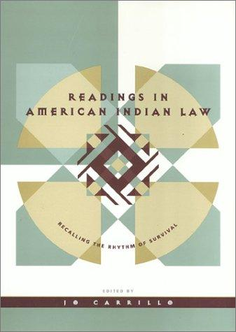 Download Readings in American Indian Law