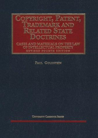 Download Copyright, patent, trademark, and related state doctrines