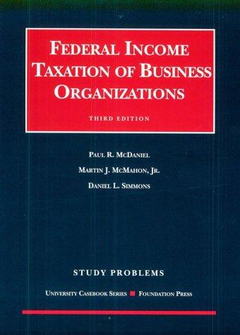 Download Federal income taxation of business organizations